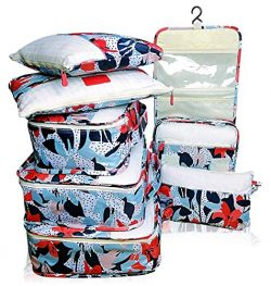 Packing Cubes Backpack Organizers Set for Carry on Travel Bag Luggage Cube (Lily 6+1)