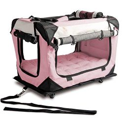 PetLuv Happy Cat Premium Soft Sided Foldable Top & Side Loading Pet Carrier & Travel Cra ...