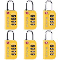 TSA Approved Luggage Lock – 4 Digit Combination padlocks with a Hardened Steel Shackle  ...