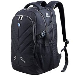 17.3 inch Laptop Backpack with Rain Cover Airbag Shockproof Water Resistant Travel Bag Work Scho ...