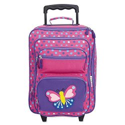 "Personalized Rolling Luggage for Kids – 3-D Butterfly Design, 5"" x 12″ x 20″H, By Li ..."