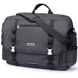 Lifewit 15.6-17 inch Laptop Messenger Bag Military Business Briefcase Water Resistance Multifunc ...