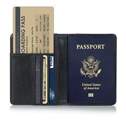 Anvas Passport Holder Travel Wallet – Premium Vegan Leather RFID Blocking Case Cover &#821 ...