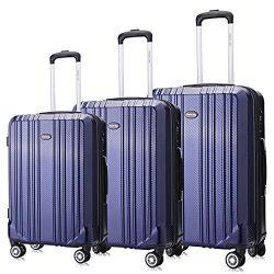 Rosario PC Luggage Set Expandable Premium Carbon Fiber Suitcase 3 Piece Set TSA Lightweight Spin ...