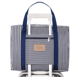 Kemladio Foldable Travel Bag Travel Duffle Bag Waterproof Carry-on Bag Travel Tote Bag Stripes B ...