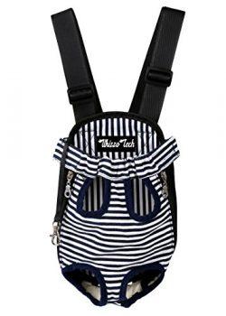 Whizzotech Pet Carrier Backpack, Adjustable Pet Front Cat Dog Carrier Backpack Travel Bag, Legs  ...