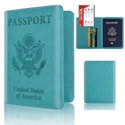Storage Package, Yezijin Leather Passport Holder Wallet Cover Case RFID Blocking Travel Wallet ( ...
