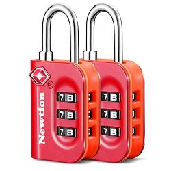 Newtion TSA Approved Luggage Lock,Travel Lock with Double Color Alloy Body,TSA Combination Lock  ...
