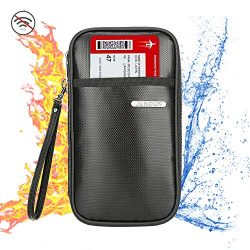 JUNDUN Family Passport Holder,Fireproof and Waterproof RFID Blocking Travel Wallet,Silicone coat ...
