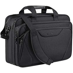 KROSER 18″ Laptop Bag Laptop Briefcase Fits Up to 17.3 Inch Laptop Expandable Water-Repell ...