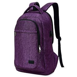 MarsBro Laptop Backpack, Anti Theft Business Travel College Water Resistant 15.6 Inch Bag for Wo ...