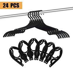 24 Pcs Travel Hangers – Portable Folding Clothes Hangers Travel Accessories Foldable Cloth ...