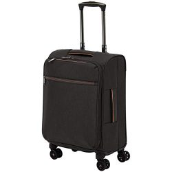 AmazonBasics Belltown Softside Luggage Spinner Suitcase Spinner – 21-Inch, Heather Black