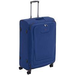 AmazonBasics Premium Expandable Softside Spinner Luggage With TSA Lock- 29 Inch, Blue