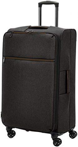 AmazonBasics Belltown Softside Luggage Spinner Suitcase Spinner – 29-Inch, Heather Black