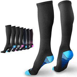 BAMS Premium Bamboo Mens & Womens Compression Socks – Antibacterial 20-30 mmHg Graduat ...
