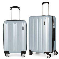 Fochier Luggage 2 piece Set Lightweight Spinner Suitcase with TSA Lock 20″26″