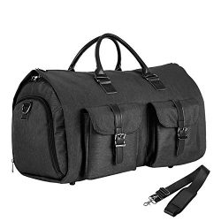 Convertible Travel Garment Bag,Carry on Garment Duffel Bag for Men Women – 2 in 1 Hanging  ...