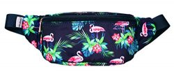 WODODO Flamingo Pattern Print Fashion Cute Fanny Pack Women Rave Festival Party Hiking Travel Hi ...
