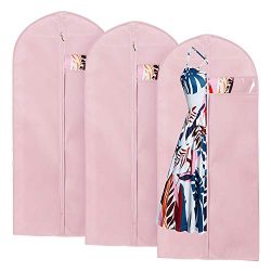 Breathable Garment Bag For Storage And Travel , Hanging Clothes Covers With Full Zipper and Clea ...