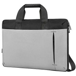 Slim Laptop Bag,17.3 Inch Laptop Carrying Case for Women Men Large Briefcase Sleeve with Handle  ...