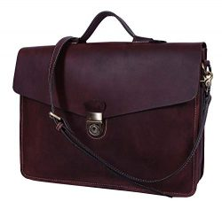 Addey Supply Company 16″ Leather Messenger Bag |Satchel Bag |Briefcase Bag 16 X 4 X 12 inc ...