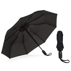 Z ZAMEKA Windproof Travel Umbrella with Teflon Coating, Compact Lightweight Portable Sun Rain Um ...