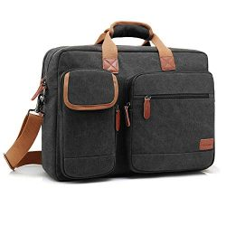 CoolBELL 15.6 Inch Laptop Bag Canvas Briefcase Protective Messenger Bag Shoulder Bag for Laptop/ ...