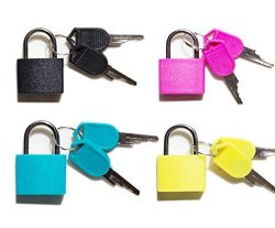 Padlock Security Lock Applies to Lockers Backpacks Computer Bags Toolbox and Other Colorful Colo ...