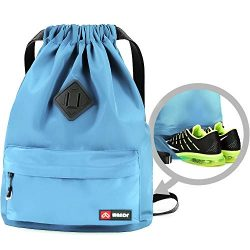 Drawstring Backpack String Bag Sackpack Cinch Water Resistant Nylon for Gym Shopping Sport Yoga  ...