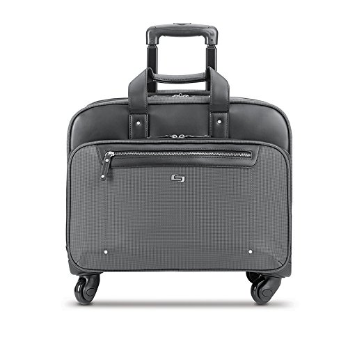 Solo New York Gramercy Rolling Laptop Bag. 4 Wheel Rolling Briefcase for Women and Men. Fits up  ...
