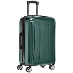 AmazonBasics Oxford Luggage Expandable Suitcase with TSA Lock Spinner, 24-Inch, Green
