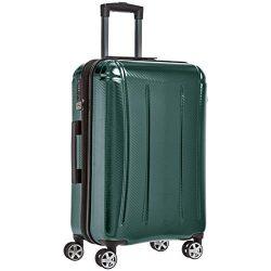 AmazonBasics Oxford Luggage Expandable Suitcase with TSA Lock Spinner, 24-Inch, Green