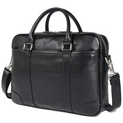 Texbo Genuine Leather 15.6 Inch Laptop Briefcase Messenger Bag Tote Fit Business Travel
