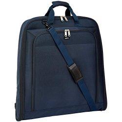 AmazonBasics Premium XL Garment Bag, Navy Blue – 45″