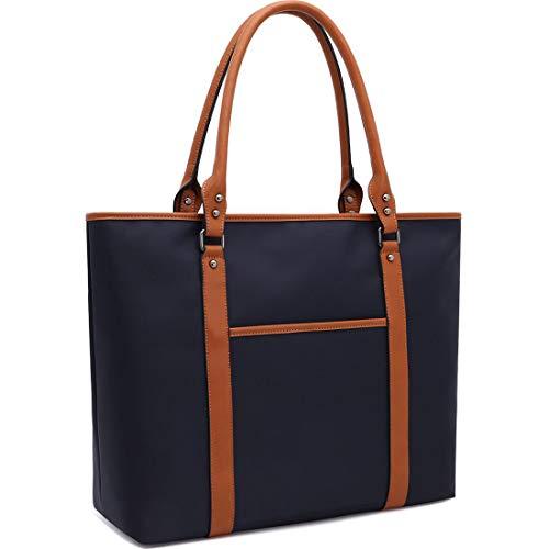 ZYSUN Laptop Bag for Women Lightweight Nylon Work Tote Bags Business School Computer Shoulder Ba ...