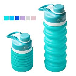 Anntrue Collapsible Water Bottle BPA Free, FDA Approved Food-Grade Silicone Portable Leak Proof  ...