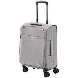 AmazonBasics Belltown Softside Luggage Spinner Suitcase Spinner – 21-Inch, Heather Grey