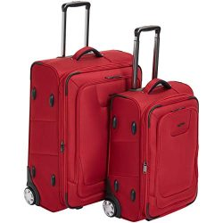 AmazonBasics Premium Upright Expandable Softside Suitcase with TSA Lock 2-Piece Set – 22/2 ...