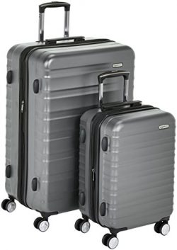 AmazonBasics Premium Hardside Spinner Luggage with Built-In TSA Lock – 2-Piece Set (20R ...