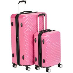AmazonBasics Geometric Luggage Expandable Suitcase Spinner – 2 Piece Set (20″, 28 ...