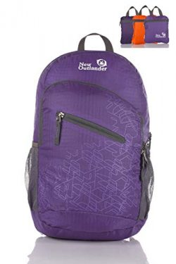 Outlander Ultra Lightweight Packable Water Resistant Travel Hiking Backpack Daypack Handy Foldab ...