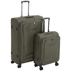 AmazonBasics Premium Expandable Softside Spinner Luggage With TSA Lock 2-Piece Set – 21/29 ...