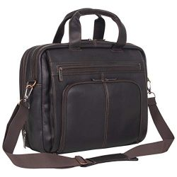 Kenneth Cole Reaction Colombian Leather Dual Compartment Expandable 15.6″ Laptop Portfolio ...