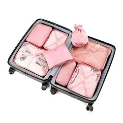 Packing Cubes 8 Sets/7 Colors Latest Design Travel Luggage Organizers Include Waterproof Shoe St ...