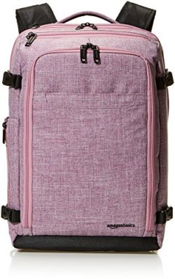 AmazonBasics Slim Carry On Travel Backpack, Purple – Weekender