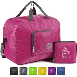 WANDF 16″ ~ 32″ Foldable Duffle Bag for Travel Gym Sports Lightweight Luggage Duffel ...