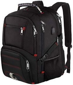 Extra Large Backpack,Travel Laptop Backpack TSA Friendly Durable Computer Backpack with USB Char ...