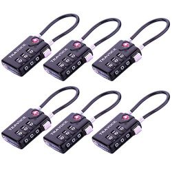 TSA Approved Luggage Locks, Travel Locks Which Also Work Great as Gym Locks, Toolbox Lock, Backp ...