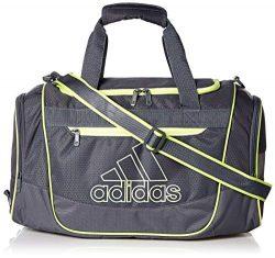 adidas Defender III Duffel Bag, Onix/Hi – Res Yellow, One Size